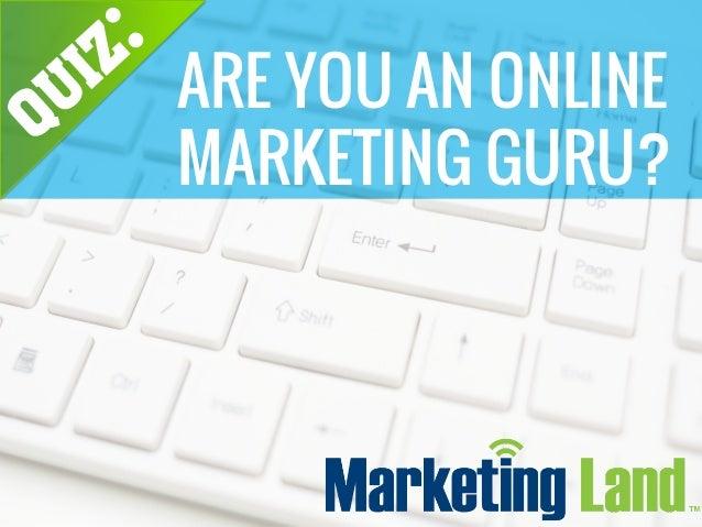 ARE YOU AN ONLINE MARKETING GURU?