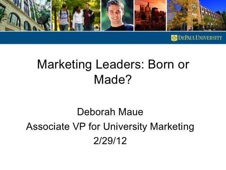 Higher Education SIG Event: Marketing leaders born or made?