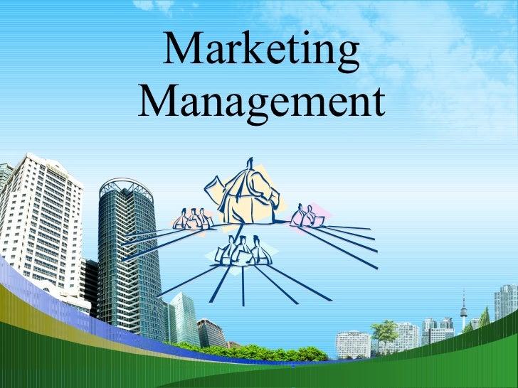 Marketing management ppt of  mba