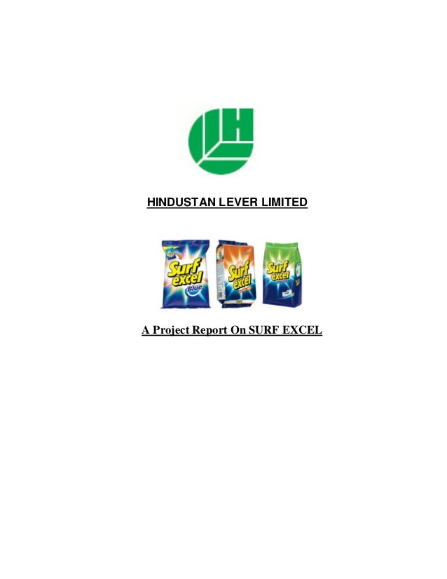 HINDUSTAN LEVER LIMITEDA Project Report On SURF EXCEL