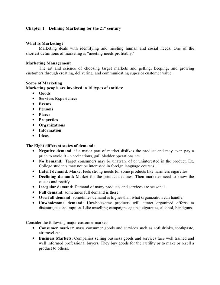 kotler marketing management summary Read this essay on summary of kotler come browse our large digital warehouse of free sample essays  philip kotler marketing management summary.