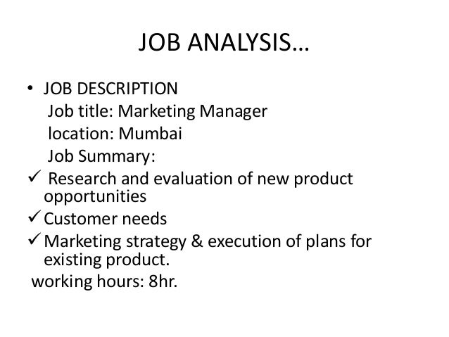 an analysis of my career in marketing management Opportunities exist in management and analysis roles with marketing associate professional is the top job for business and management graduates with more than.