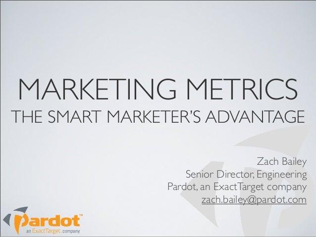 Marketing Metrics - The Smart Marketer's Advantage