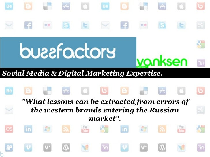 """Social Media & Digital Marketing Expertise. <br />""""What lessons can be extracted from errors of the western brands enterin..."""