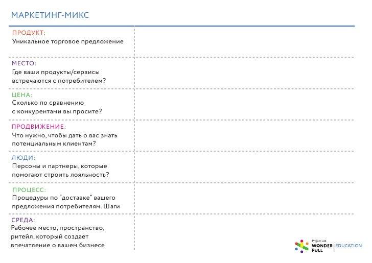 7P маркетинг-микс / 7P Marketing Mix для креативного бизнеса