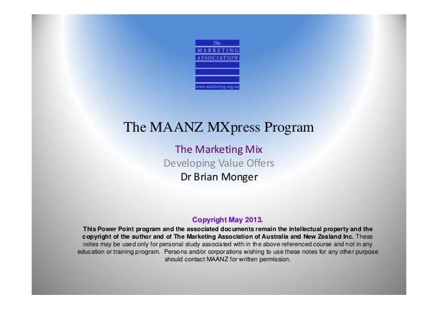 Single marketing mix
