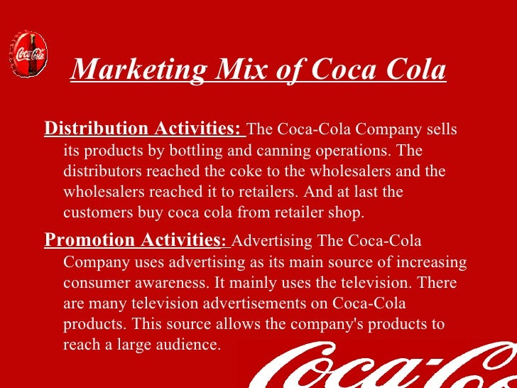 coca cola marketing strategy essay Coca cola marketing strategy essays the coca-cola company is the world's leading manufacturer, marketer, and distributor of nonalcoholic beverage concentrates and syrups.