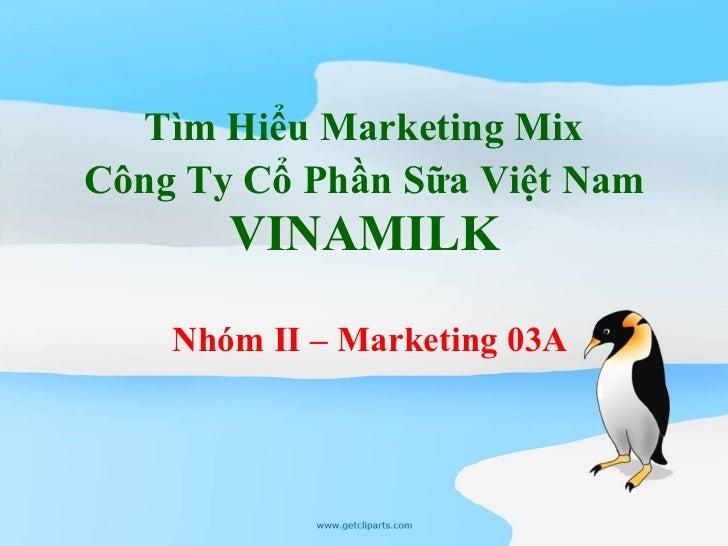 Marketing mix vinamilk