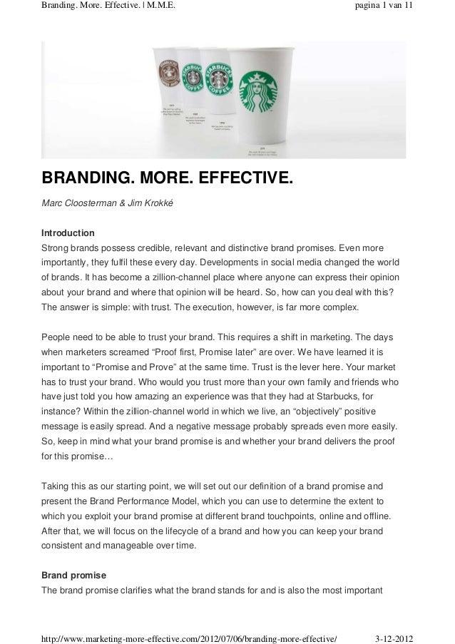 Branding. More. Effective. | M.M.E.                                             pagina 1 van 11BRANDING. MORE. EFFECTIVE.M...