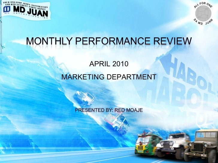 Marketing MPR Report April 2010