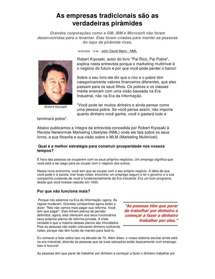 Marketing Multinivel Robert Kiyosaki
