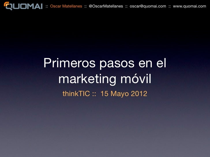 Marketing móvil   think tic