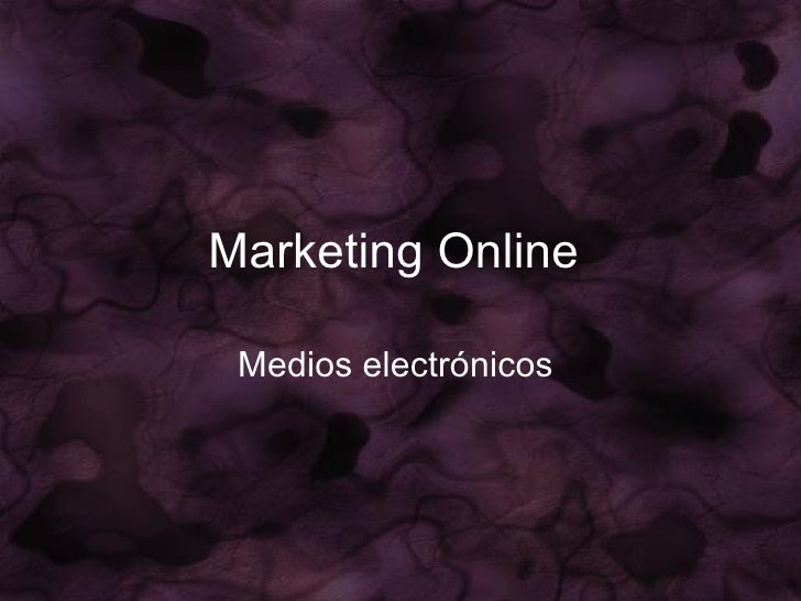 Marketing Online   Medios electrónicos
