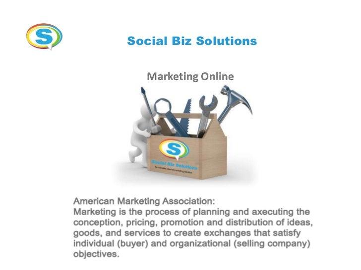 Social Biz Solutions   Marketing Online
