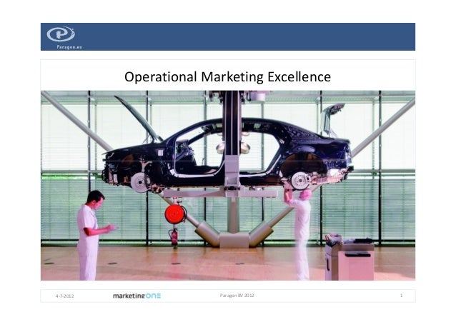 Operational Marketing Excellence  4-7-2012  Paragon BV 2012  1