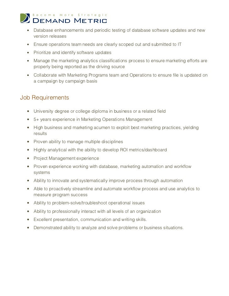 Marketing Operations Manager Job Description. Library Page Resume Sample. Cover Letter For Testing Resume. How To Write Leadership Skills In Resume. Elegant Resume. Resume Examples Promotion Within Same Company. Henry Ford Resume. Medical Resume Sample. Best Place To Post Resume Online