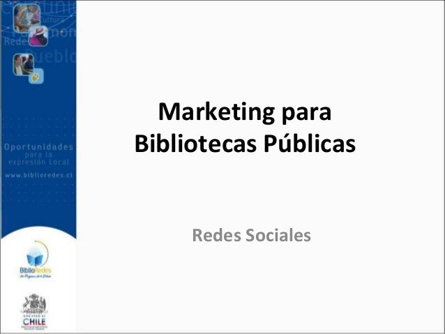 Marketing para Bibliotecas Públicas Redes Sociales
