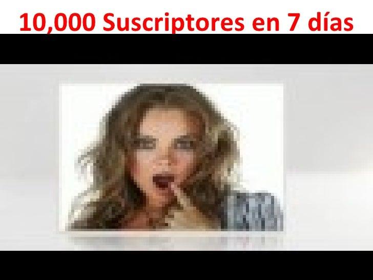 10,000 Suscriptores en 7 días