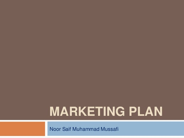MARKETING PLANNoor Saif Muhammad Mussafi
