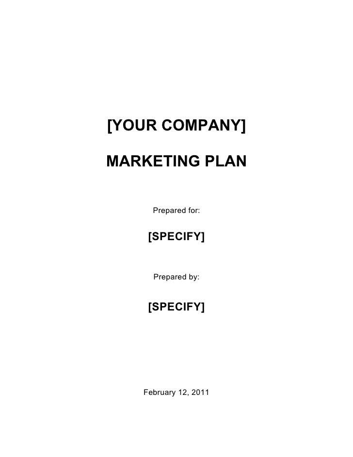 Marketing Plan English