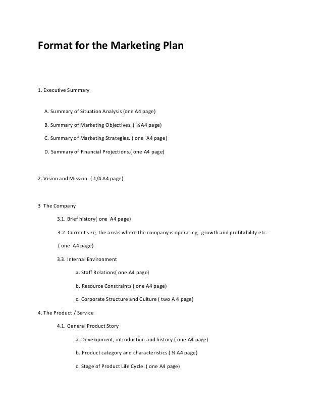 Healthcare Marketing Plan Outline Essay Sample Marketing Plan Outline