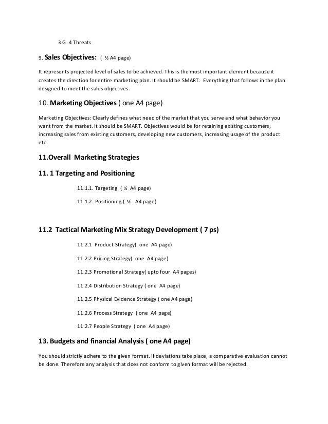 marketing plan format 2013. Black Bedroom Furniture Sets. Home Design Ideas