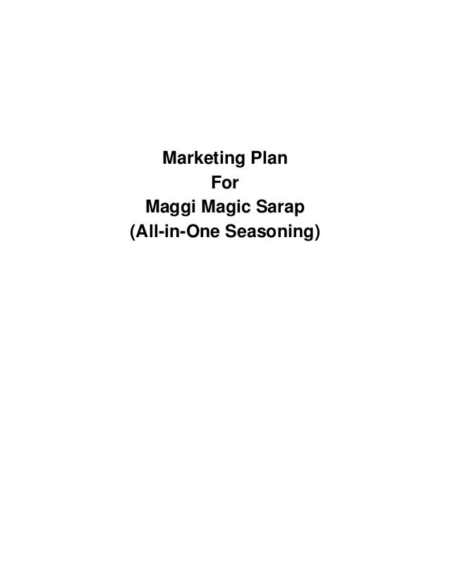 Marketing plan for maggi magic sarap