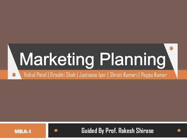 Marketing planning