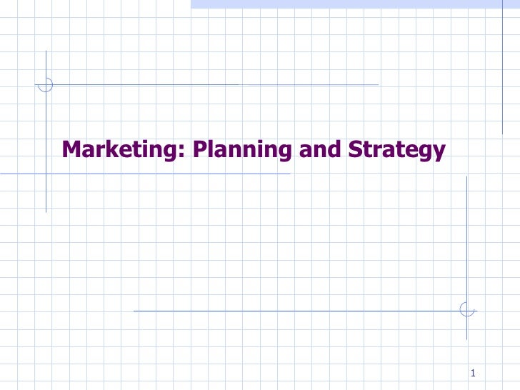 Marketing Planning&Strategy