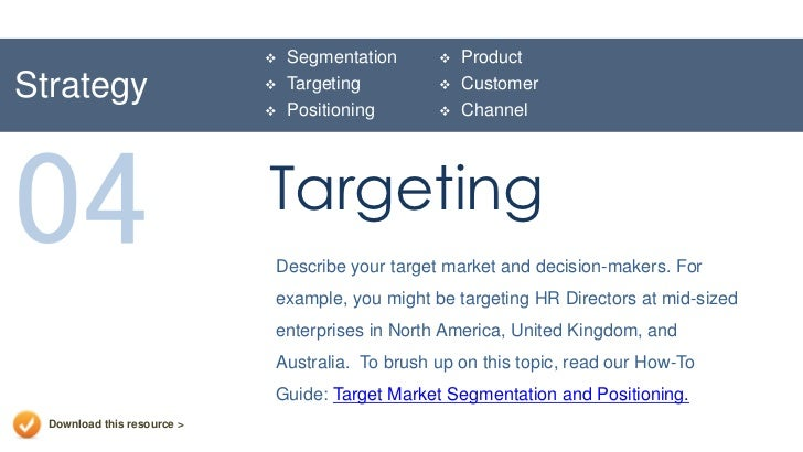 How to Write Up & Develop a Market Segmentation Plan