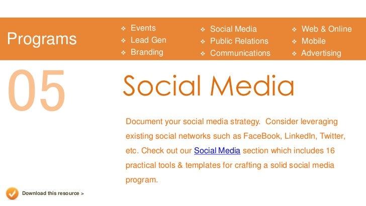 Event Social Media Plan Template Events  Social Media  Web