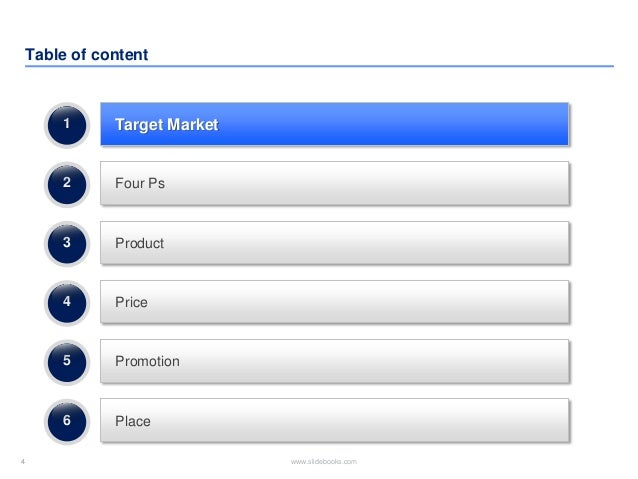 Marketing plan template in powerpoint - Marketing plan table of contents ...