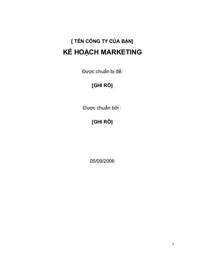 Cách lập Kế hoạch Marketing chuyên nghiệp