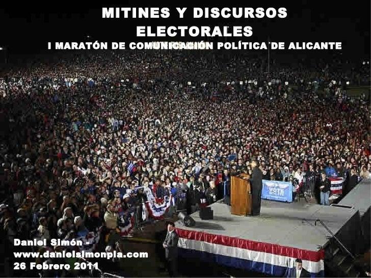 Marketing político   mitinies (dani simon)