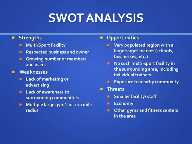 swot analysis of a soccer tournament