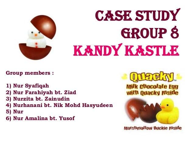 Case study                             Group 8                        Kandy kastleGroup members :1)   Nur Syafiqah2)   Nur...