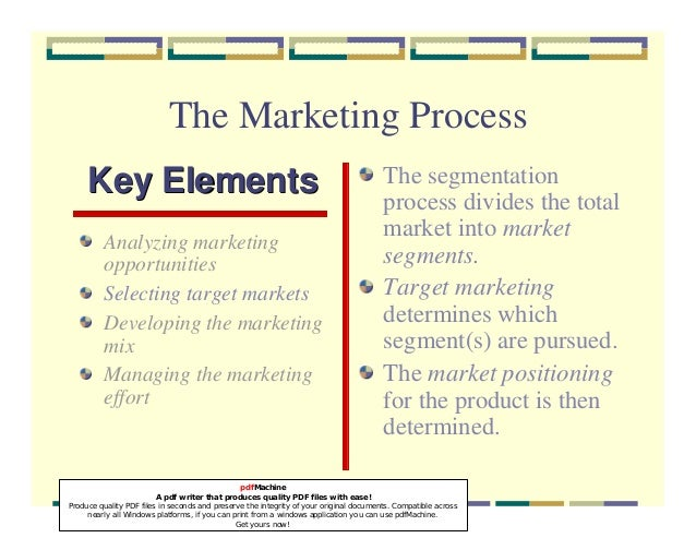 marketing concepts and processes Stakeholder marketing: a definition and conceptual framework creation and exchange processes that occur between and the broadening of the marketing concept to include stakeholder and social concerns while marketing scholars.