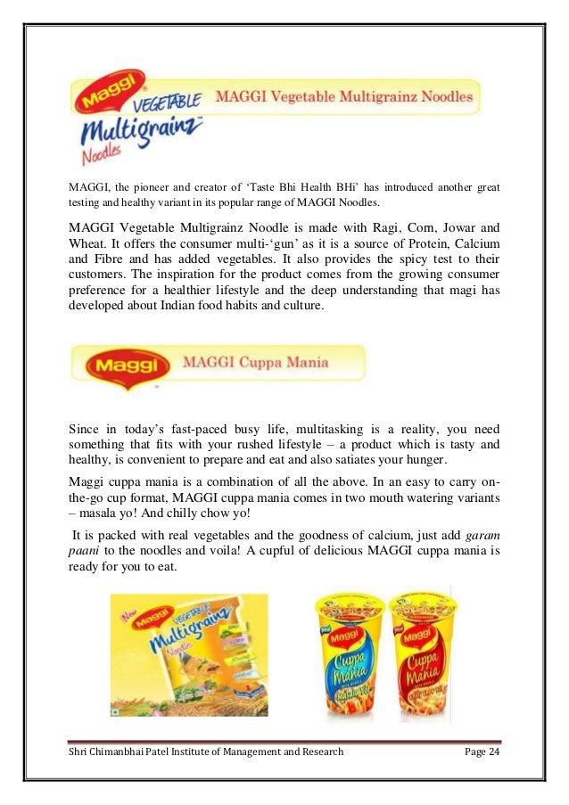 maggi marketing project