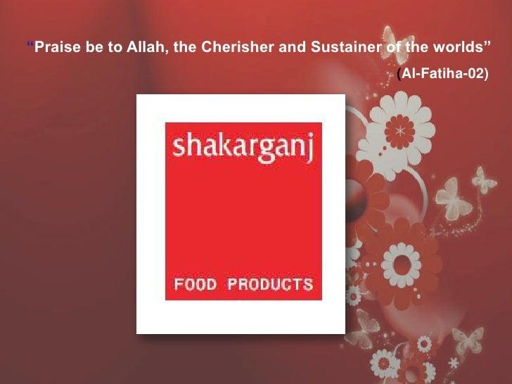 Marketing project on shakarganj