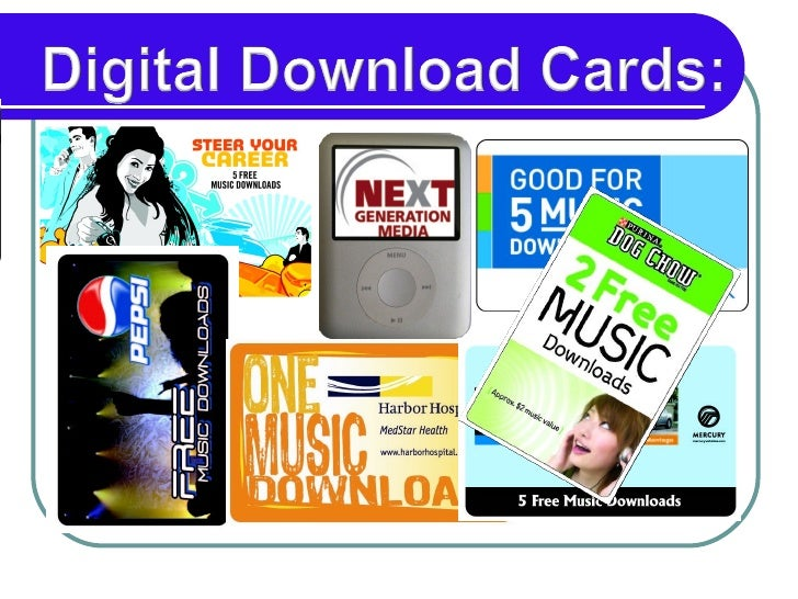 Marketing Promotion With Digital Download Cards