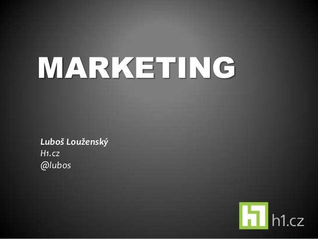 Marketing pro startupy