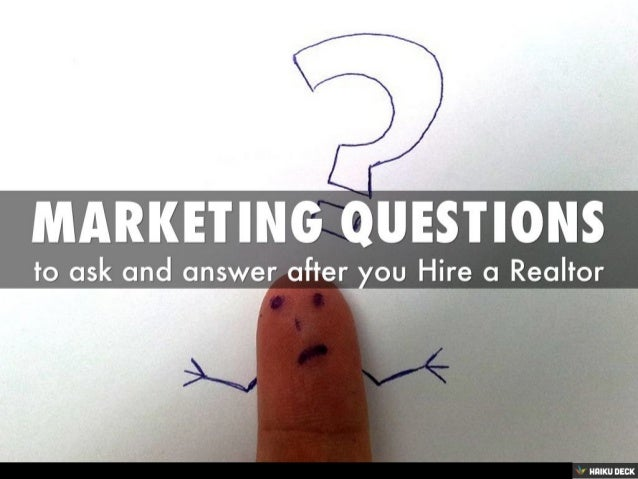 Marketing Questions for real estate agents
