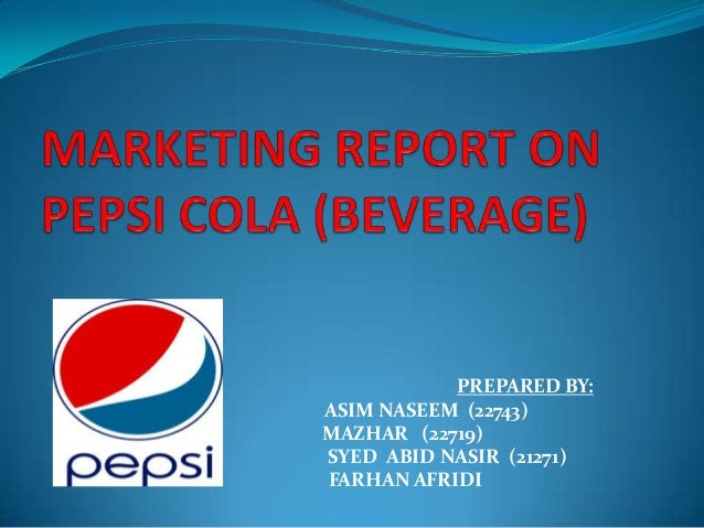 Pepsi Marketing Essay
