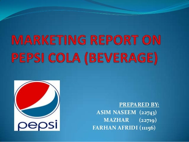 Marketing report on PEPSI