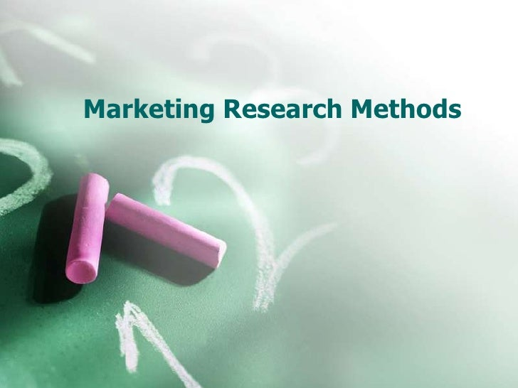 Marketing Research Methods<br />