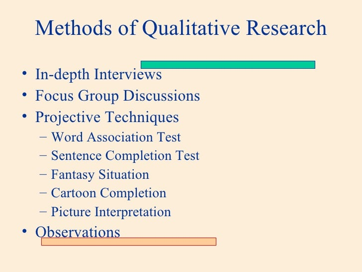 use of projective techniques in qualitative reserach The evocative power of projective techniques  the evocative power of projective techniques were  of projective techniques to qualitative research.