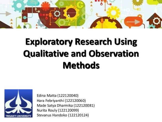 exploratory research in marketing The major difference between exploratory and descriptive research is that exploratory research is one which aims at providing insights into and comprehension of the problem faced by the researcher.