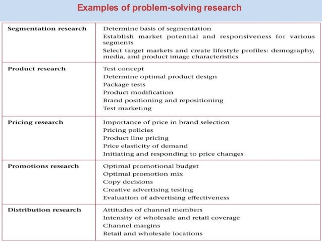 Problem solving research