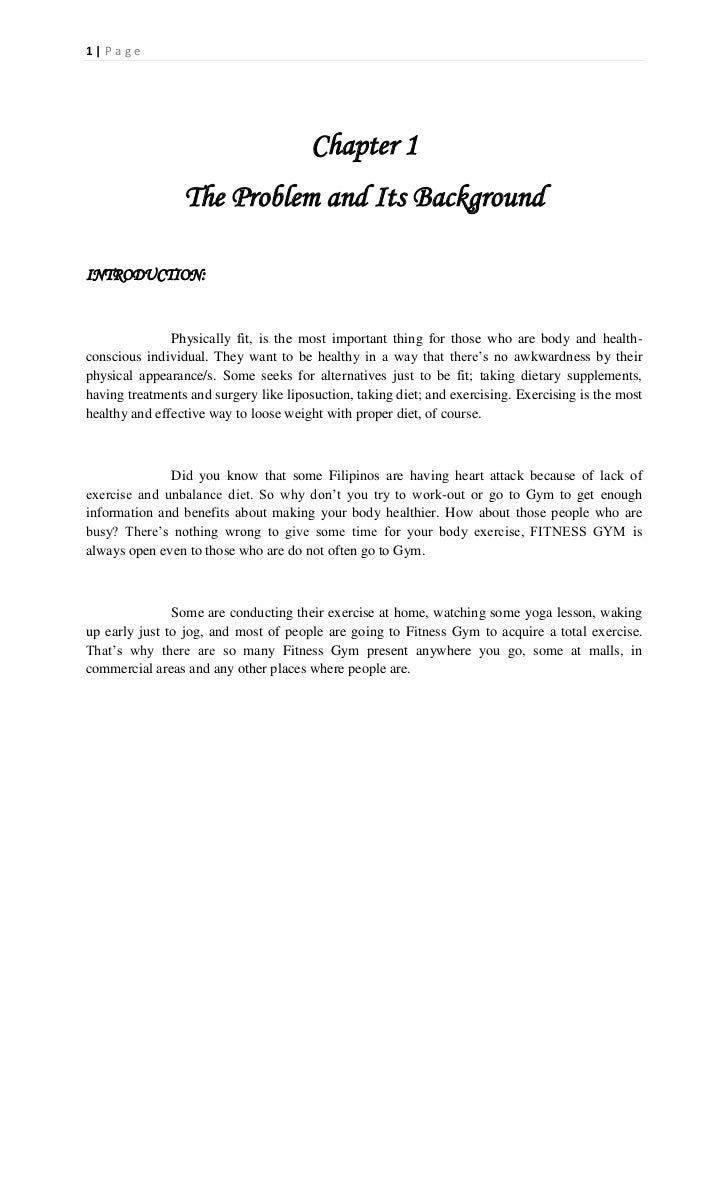 1|Page                                        Chapter 1                 The Problem and Its BackgroundINTRODUCTION:       ...