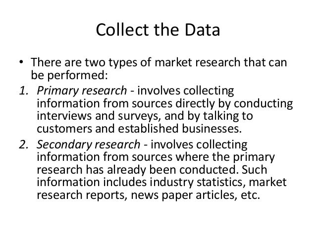 types primary research